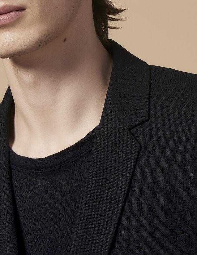 산드로 Sandro Light and flowing suit jacket,Navy Blue