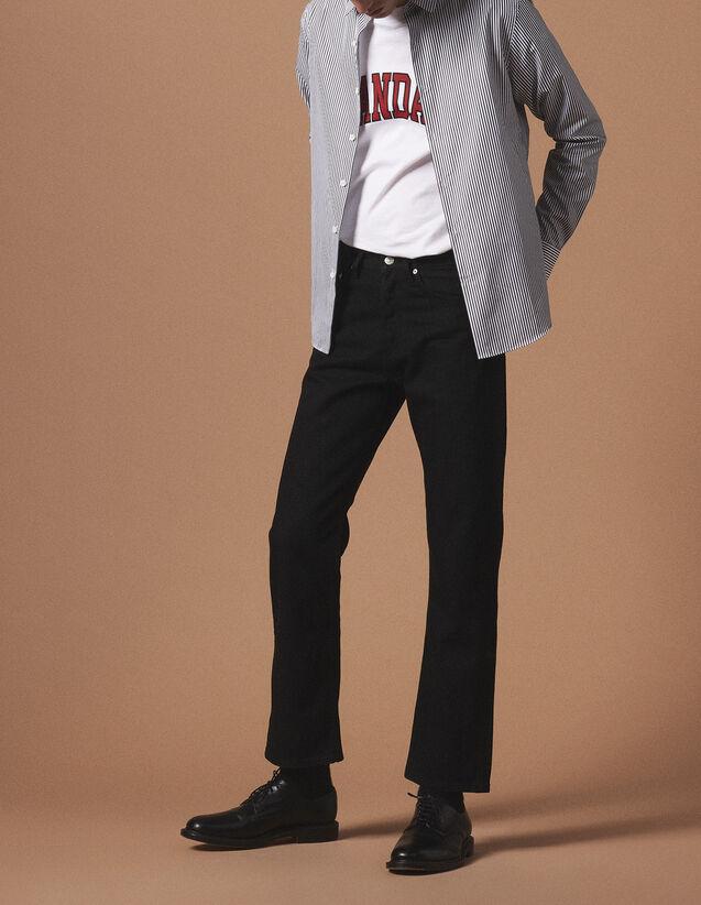 산드로 Sandro Classic striped office shirt,White And Black