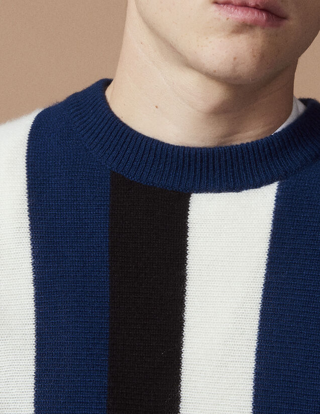 산드로 산드로 Sandro Wool and cashmere sweater,Blue