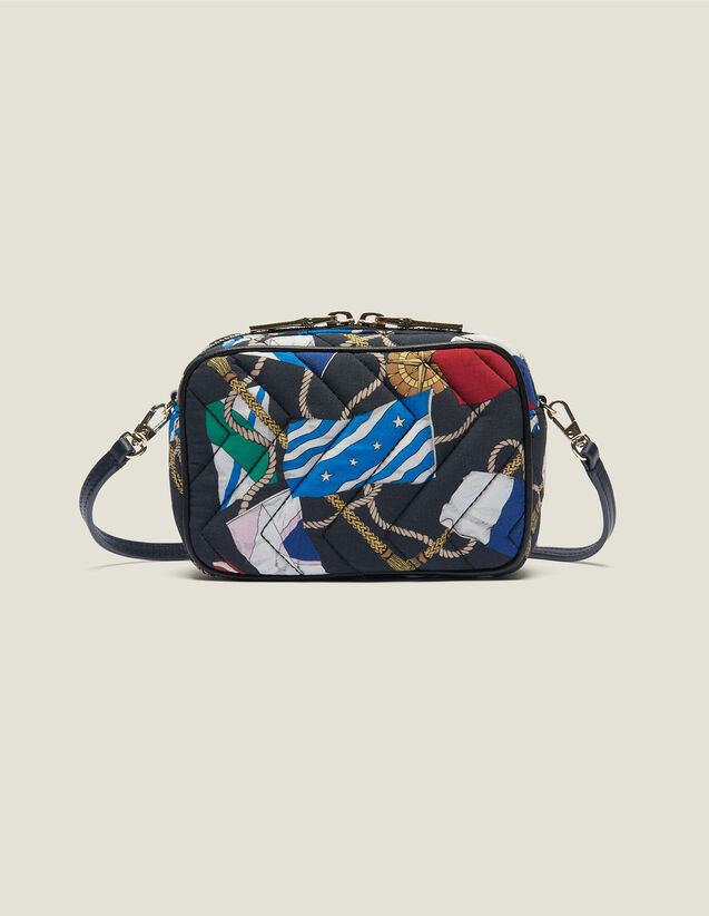 산드로 패니팩 Iza Sandro Fanny Pack In Quilted Printed Fabrics,Multi-Color
