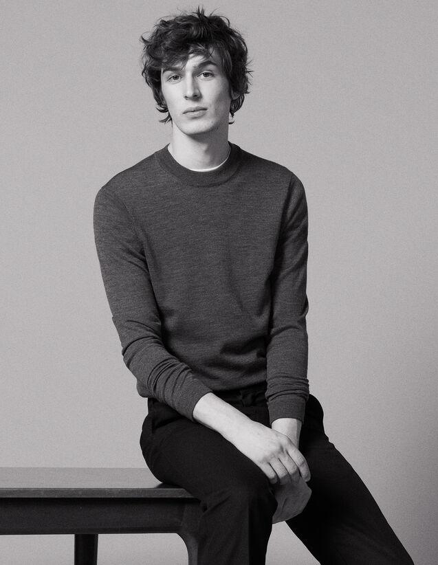 산드로 옴므 Merinos 스웨터 Sandro Merino wool sweater,Grey