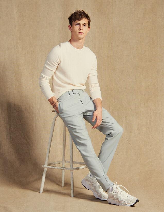 산드로 옴므 울 수트 팬츠, 정장 바지 - 스카이 블루 (김재욱 착용) Sandro Wool Suit Pants,Putty