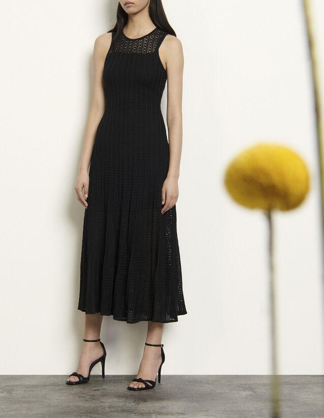 산드로 롱 니트 원피스 - 블랙 Sandro Long knit dress