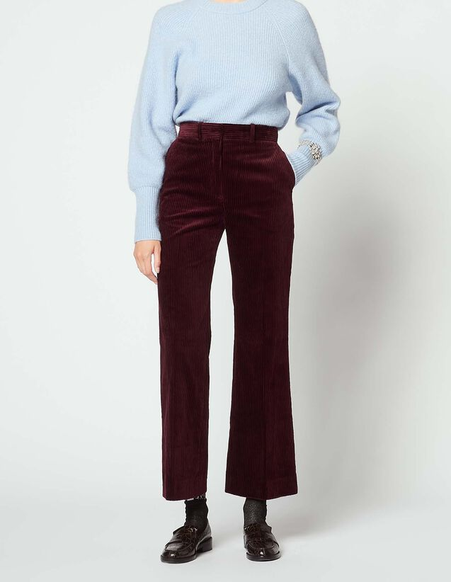 산드로 산드로 Sandro Corduroy trousers,Plum