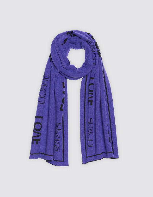산드로 산드로 Sandro Scarf with lettering,Purple