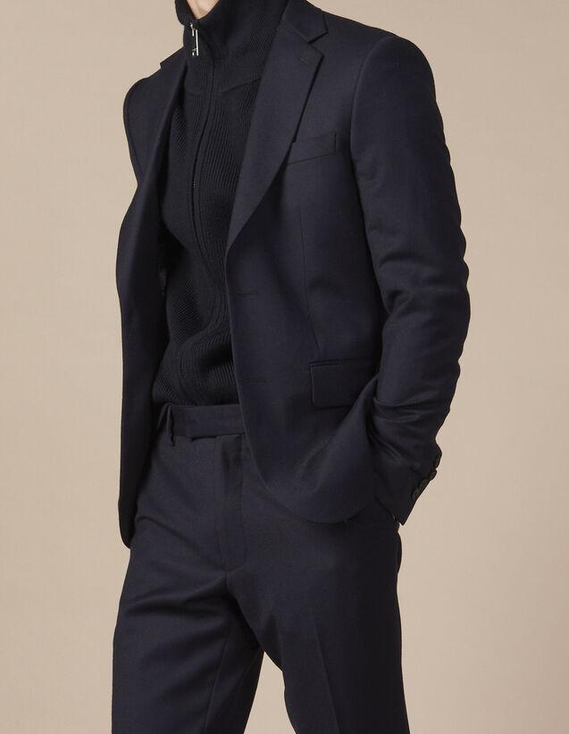 산드로 Sandro Suit jacket,Navy Blue