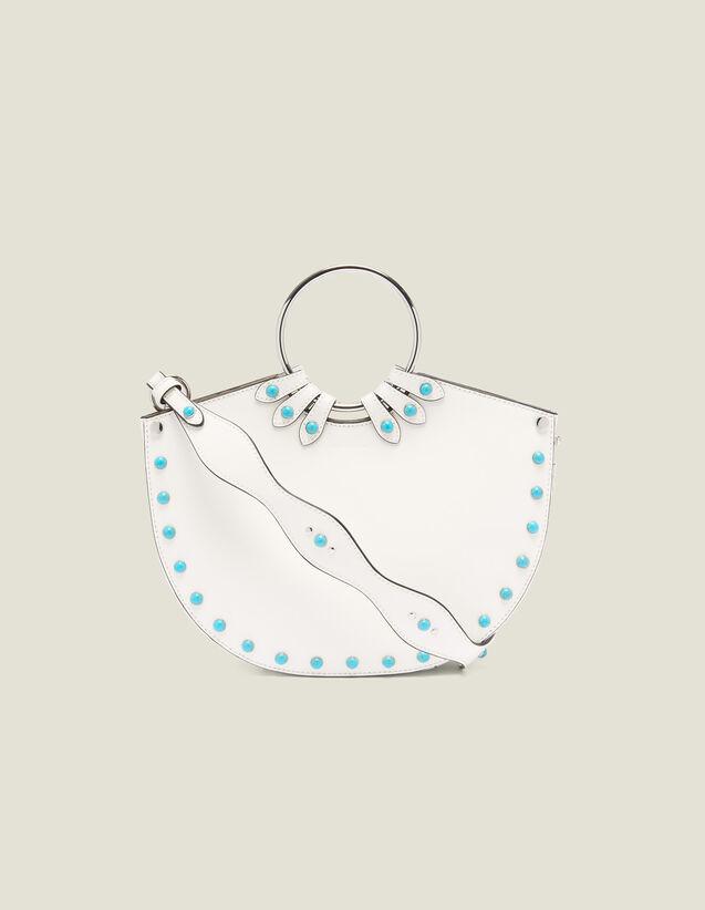 산드로 Lympe Sandro Ring Bag For Carrying Two Ways,white