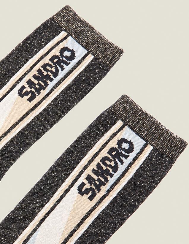 산드로 Sandro Lurex Socks,Black