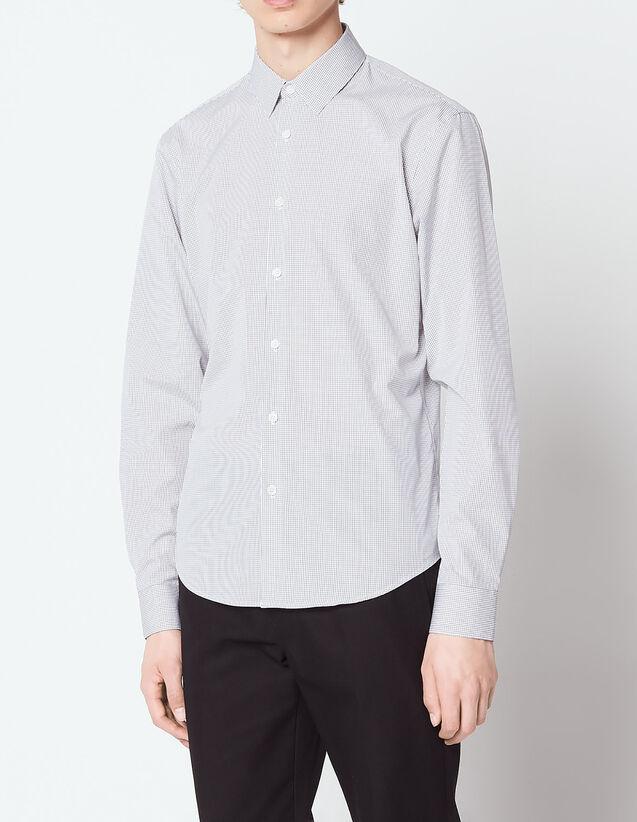 산드로 Sandro Micro checked shirt,Black
