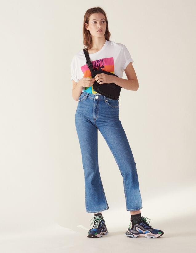 산드로 Sandro Flared jeans,Blue Vintage - Denim