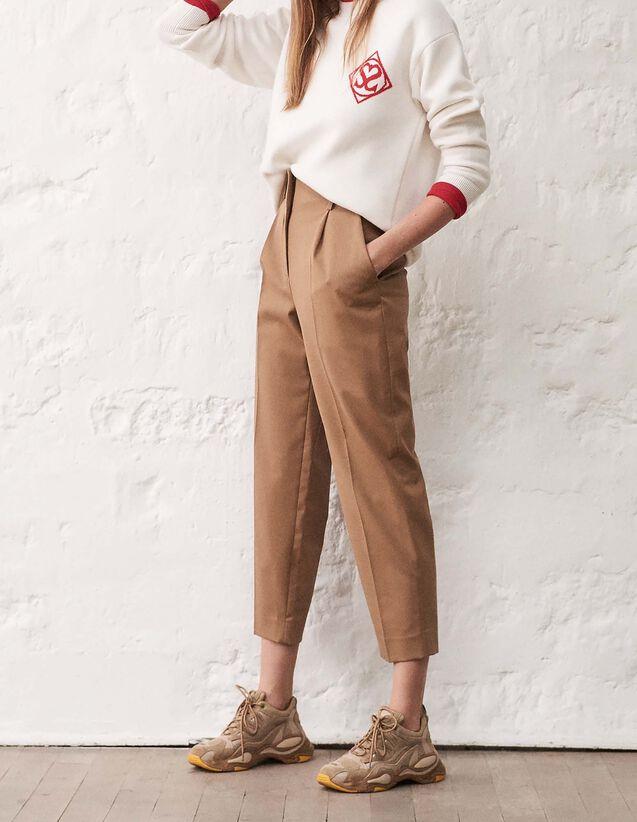 산드로 산드로 Sandro High-waisted tailored trousers,Camel