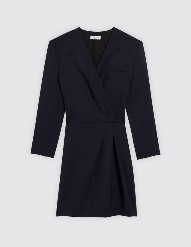 산드로 산드로 Sandro Short dress with low neckline,Deep Navy