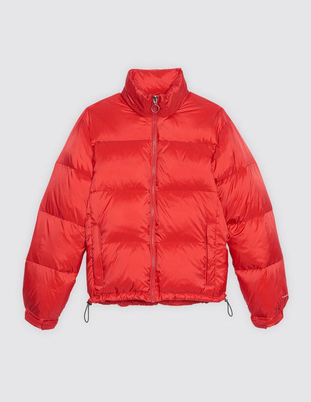 산드로 Sandro Technical padded jacket,Red