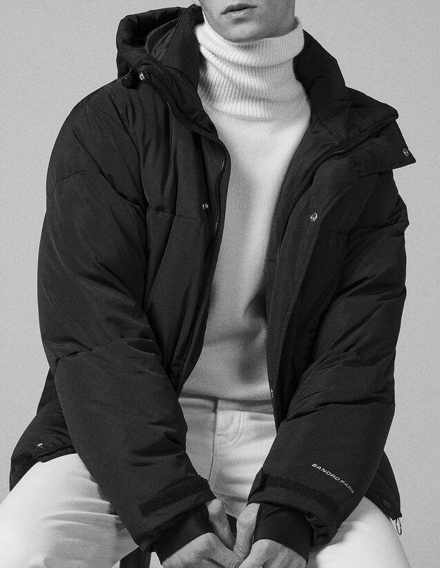 산드로 Sandro Oversized padded jacket,Black