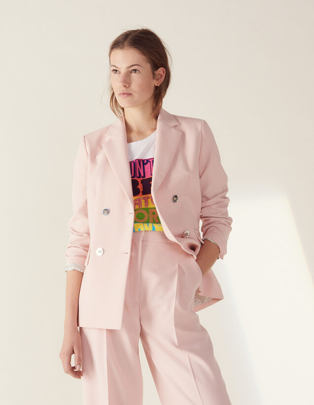 산드로 Sandro Matching tailored jacket,Pink