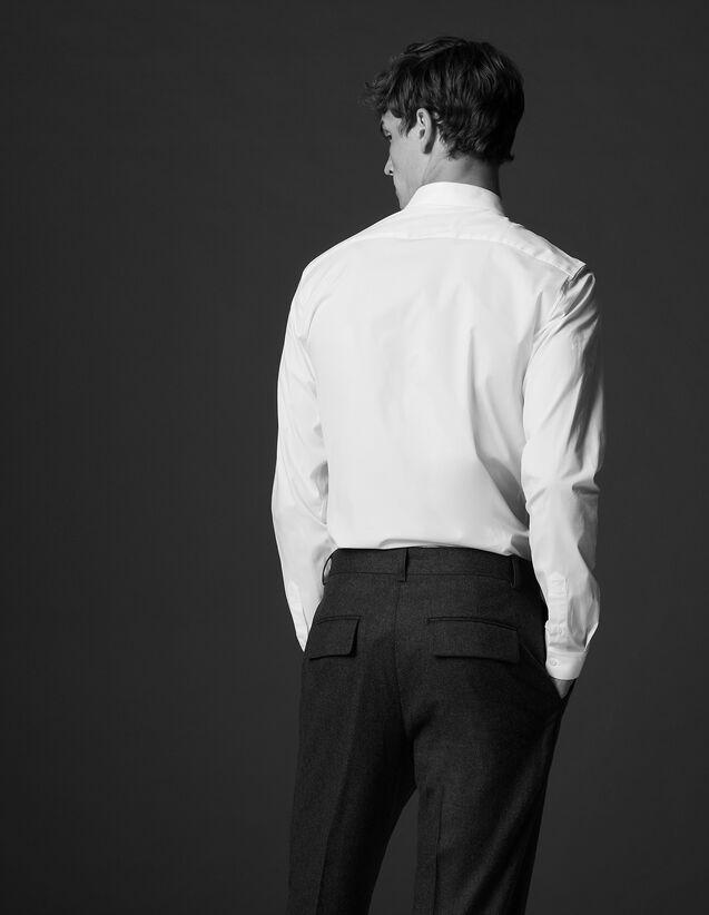 산드로 Sandro Wool suit trousers,Charcoal Grey