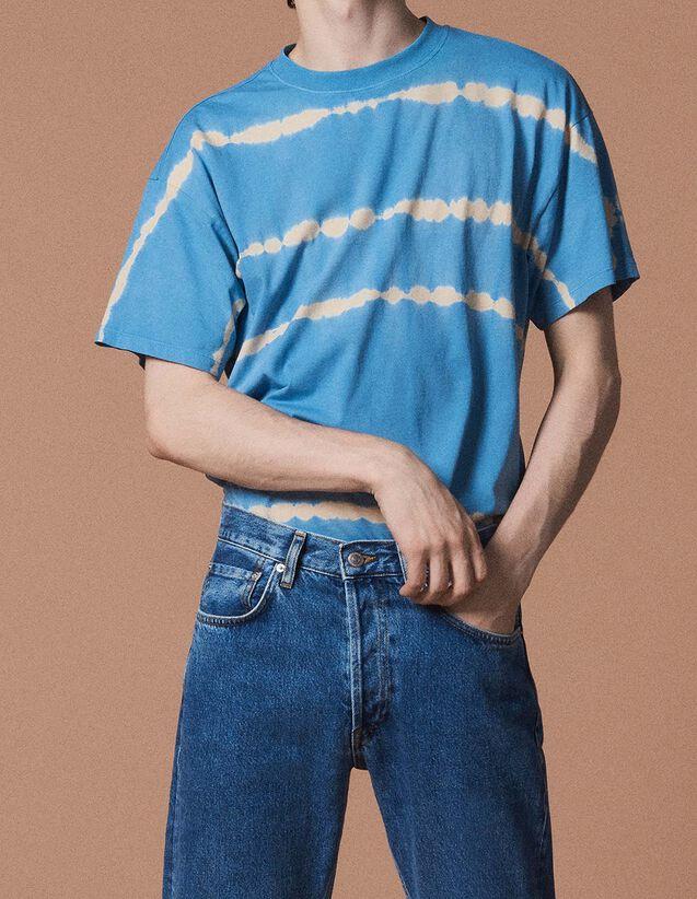 산드로 Sandro Tie and Dye T-shirt,Ecru