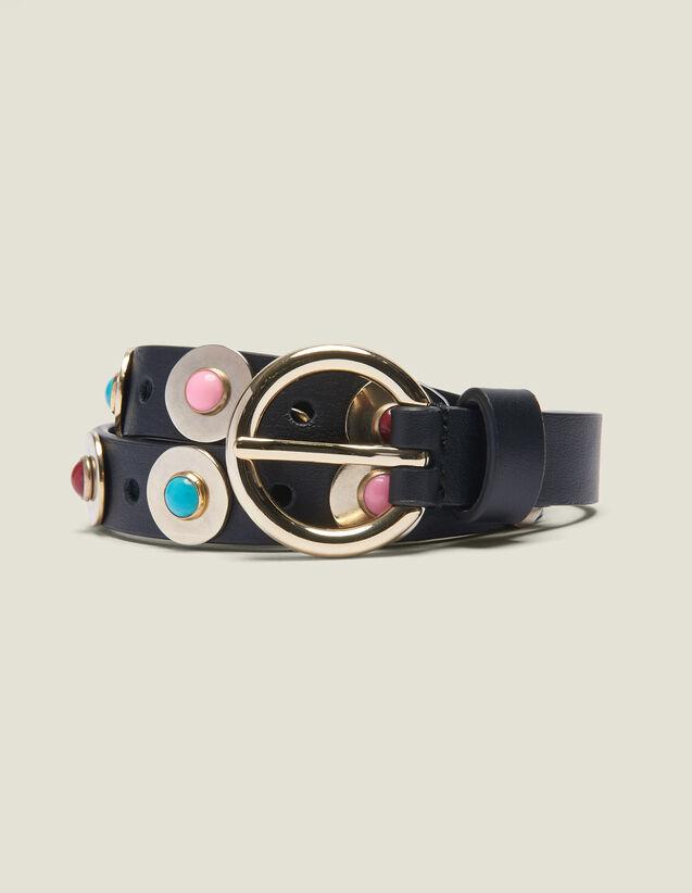 산드로 벨트 Yanne Sandro Belt with decorative beads,Black