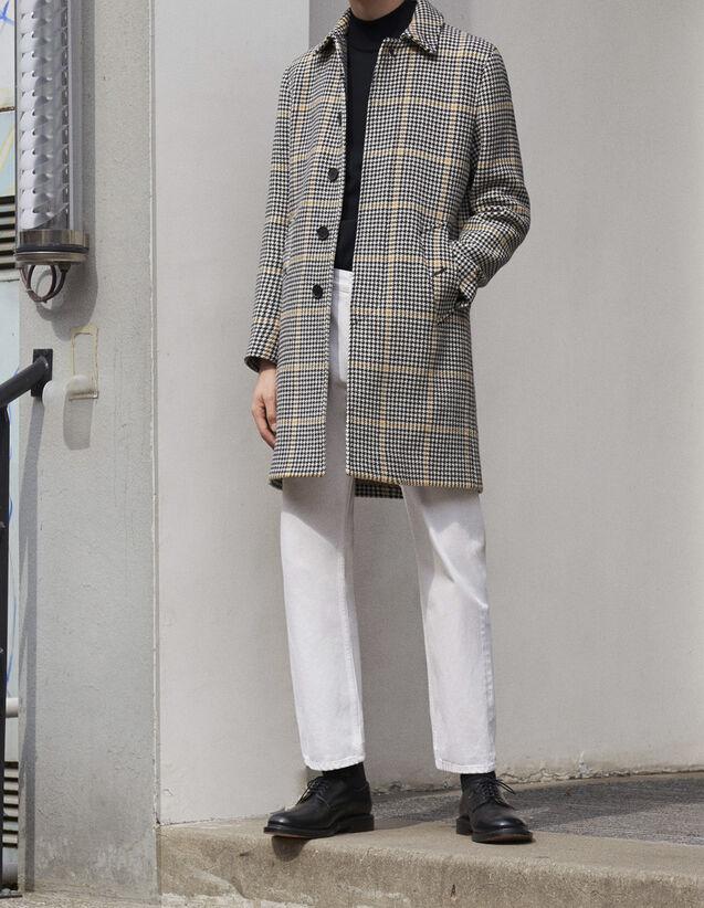 산드로 Sandro Checked coat,Black