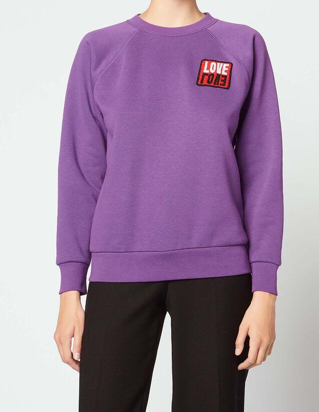 산드로 산드로 Sandro Sweatshirt with patch,Purple
