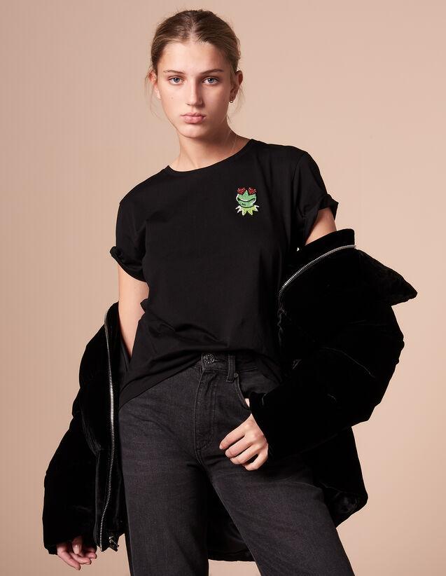 산드로 Oraya 반팔 반팔 티셔츠 SANDRO X The Muppet Show T-shirt,Black