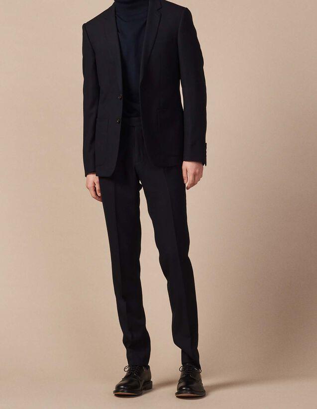 산드로 Sandro Suit trousers,Navy Blue