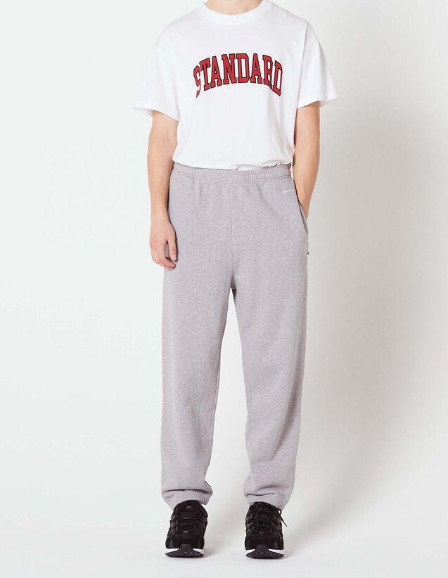 산드로 Sandro Jogging bottoms with embroidered logo,Mocked Grey