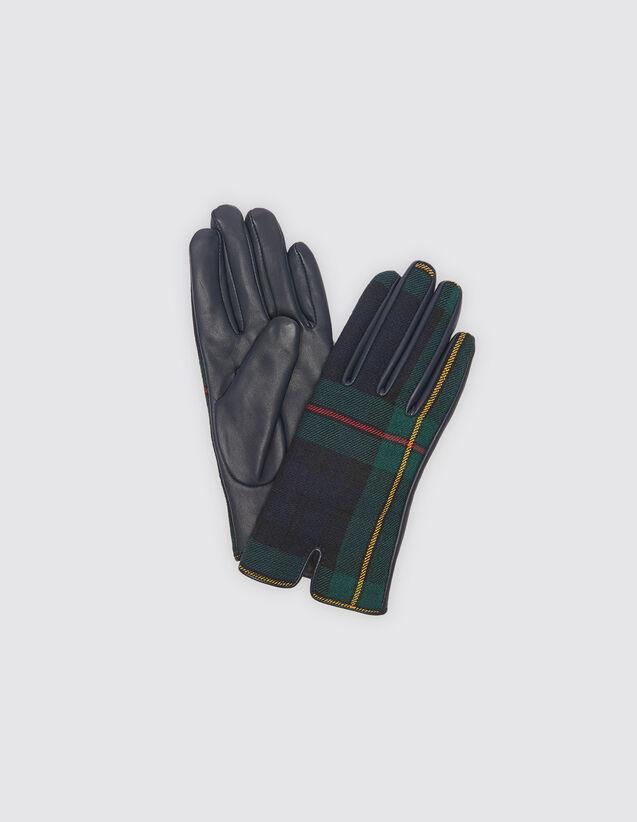 산드로 Awen 장갑 SANDRO Tartan gloves,Multi-Color