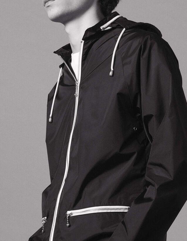산드로 Sandro Windbreaker jacket,Black