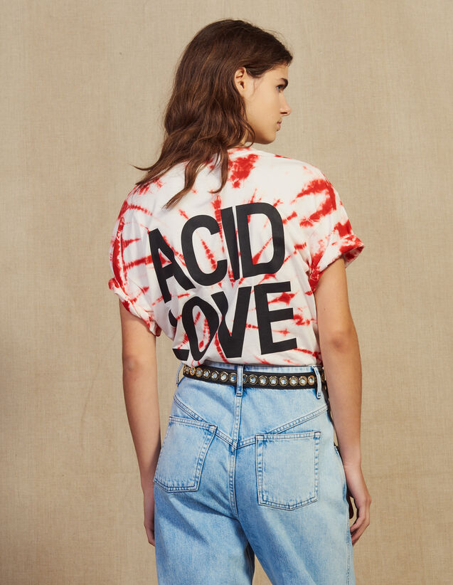 산드로 Ata Sandro Tie-Dye T-Shirt,Red