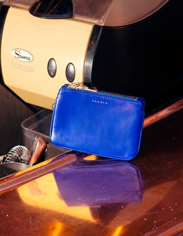 산드로 파우치 Pochette Sandro Mini Addict Pouch With Wrist Strap,Royal Blue