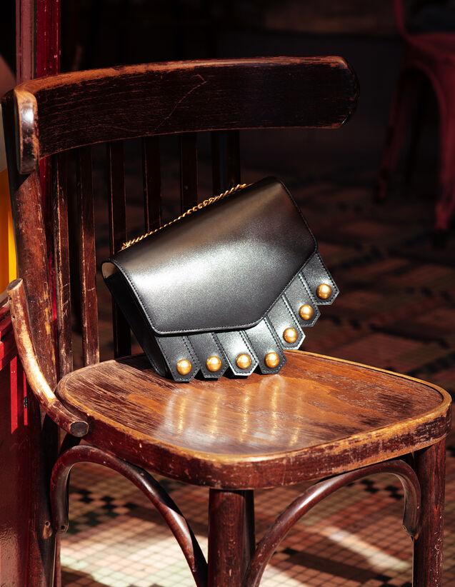 산드로 루백 Mm Sandro Lou Handbag, Medium Model,Black