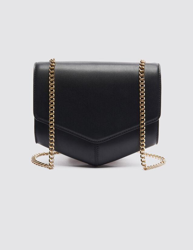산드로 루백 Mm Sandro Lou Bag Medium Model,Black