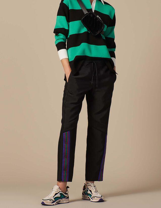 산드로 산드로 Sandro Jogging bottom style trousers,Black