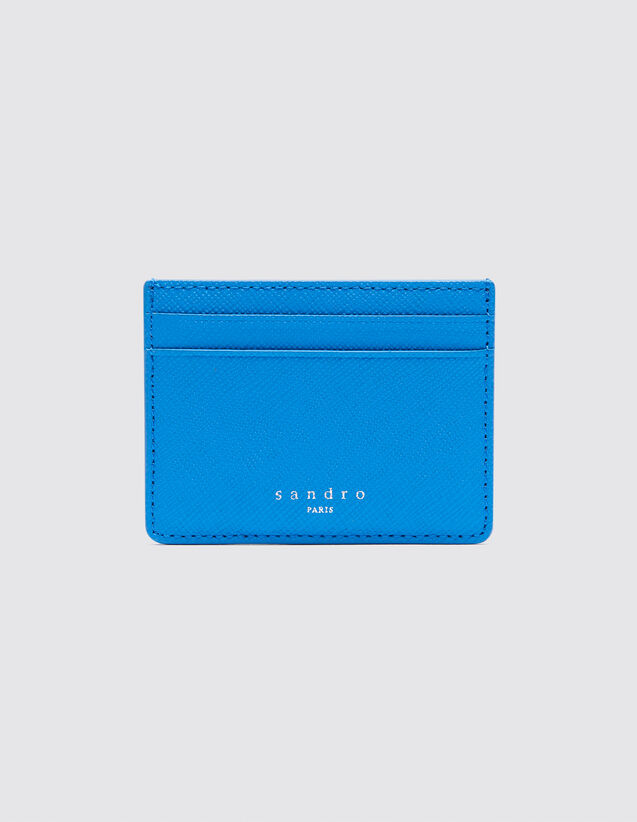 산드로 Sandro Leather card holder,Blue