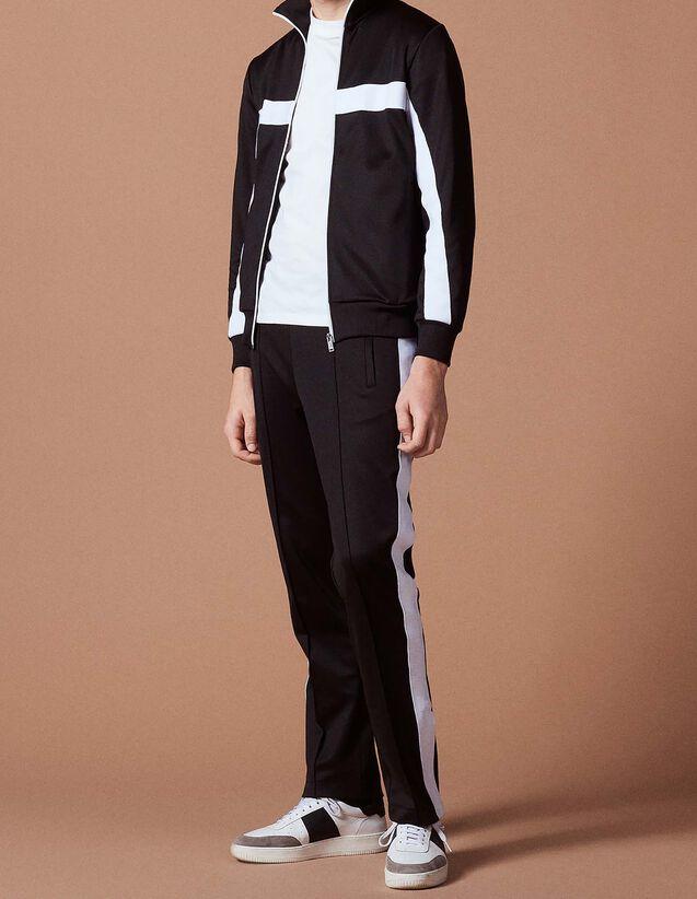 산드로 Sandro Relaxed zipped jacket,Black