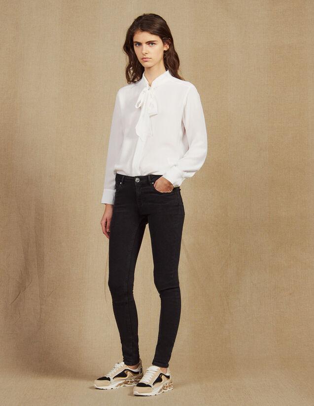 산드로 Pam 슬림 청바지 Sandro Slim jeans with regular waist,Black