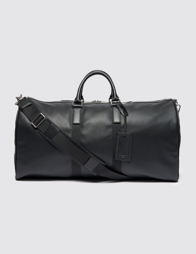 산드로 산드로 산드로 Sandro Weekend bag with contrasting handles,Black