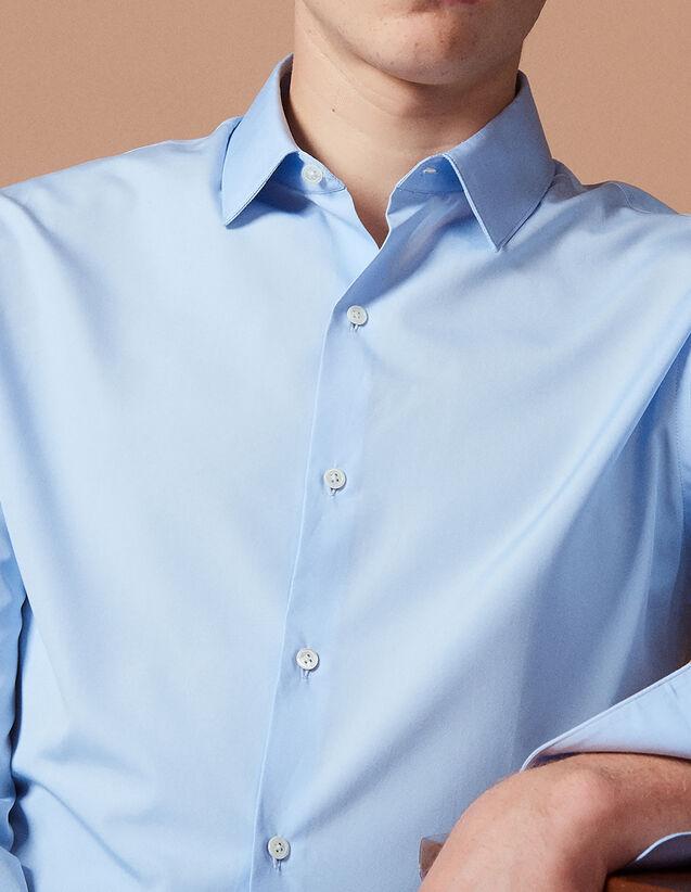 산드로 Sandro Cotton shirt,Sky Blue