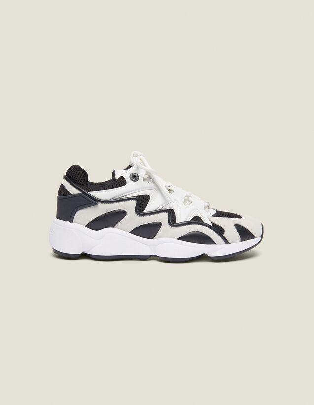 산드로 옴므 아토믹 스니커즈 - 그레이 ('나혼자산다' 헨리 착용) Sandro Technical Running Sneakers, Grey