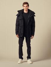 Mid-length down parka : Coats color Black
