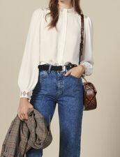 Floaty crêpe blouse : Tops & Shirts color Ecru