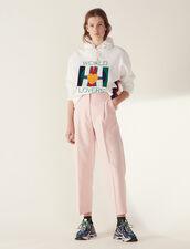 Matching 7/8-Length Tailored Pants : Pants & Shorts color Pink