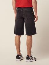 Denim Bermuda Shorts : Jeans color Black