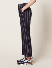 Pants With Contrasting Stripes : Pants & Shorts color Navy Blue