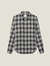 Flowing Check Shirt : Shirts color Navy Blue