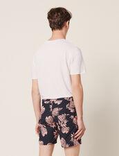 Printed Swim Shorts : Pants & Jeans color Black