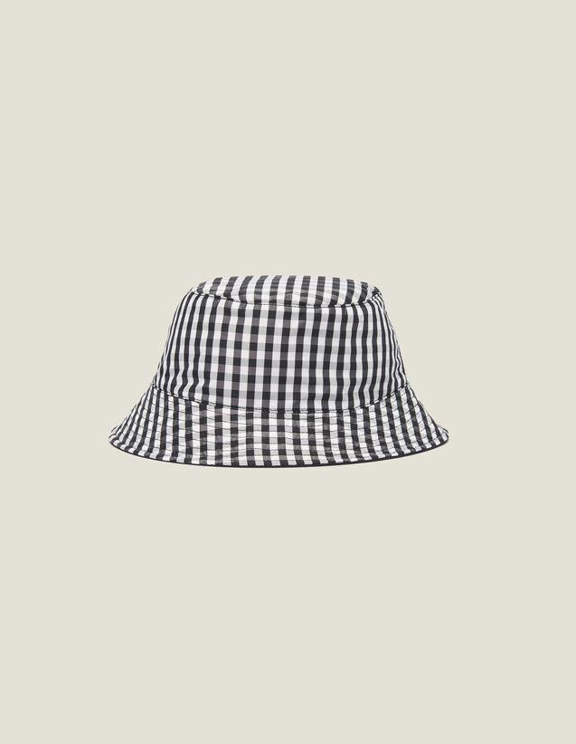Reversible Cotton Bucket Hat : Hats color Black/White