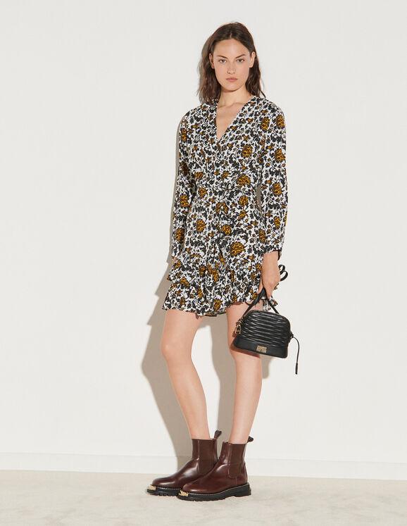 Sandro Short Printed Dress