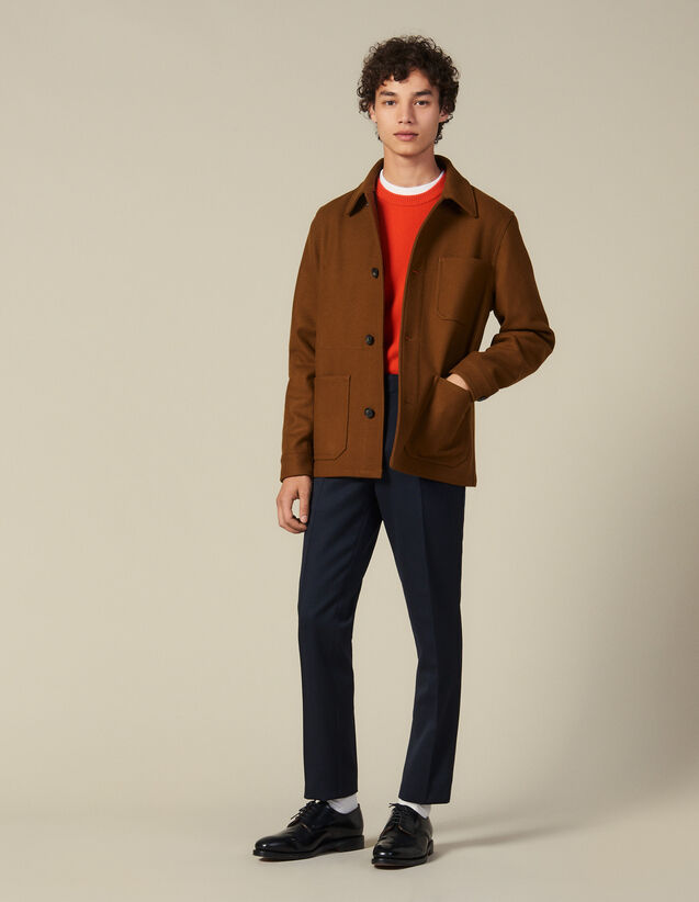 Woolcloth jacket : Jackets color Camel